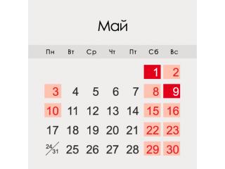 График работы интернет-магазина BiokaminShop.ru в мае